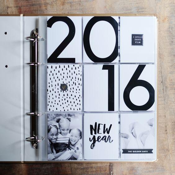 2016 Project Life Plans Title Page Páginas Del Libro De Recortes Diseño De álbum Scrapbooking Manualidades
