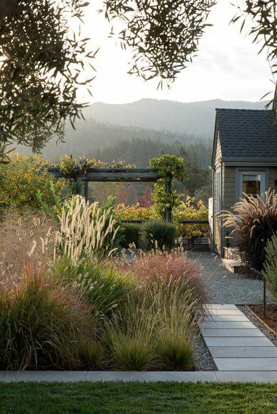Vorgarten Gestaltung - Wie wollen Sie Ihren Vorgarten gestalten - wasserfall im garten modern
