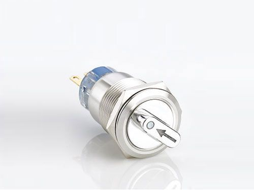 Stainless Steel 2 3 Position Selector Push Button Switch China Anu Electric Ring Lamp Light Display Steel