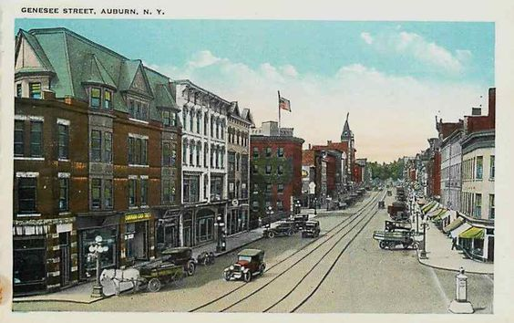 old pictures of Auburn N.Y | Details about Auburn New York NY 1920s Town View Genesee Street ...