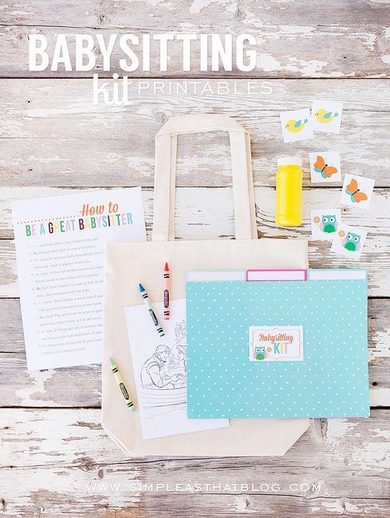 babysitting kit  babysitting and activity days on pinterest