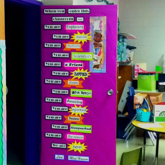 Classroom door classroom and door ideas on pinterest for Back to school classroom door decoration ideas