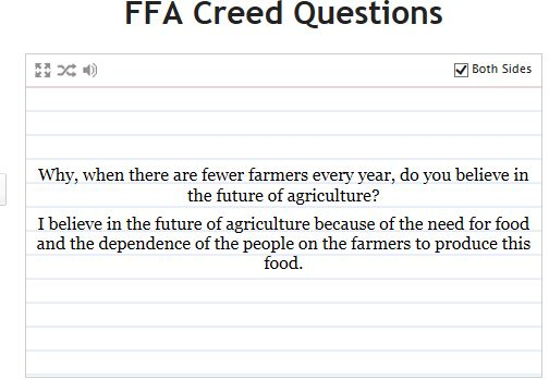 http://quizlet.com/5648540/ffa-creed-questions-flash-cards/ | FFA ...