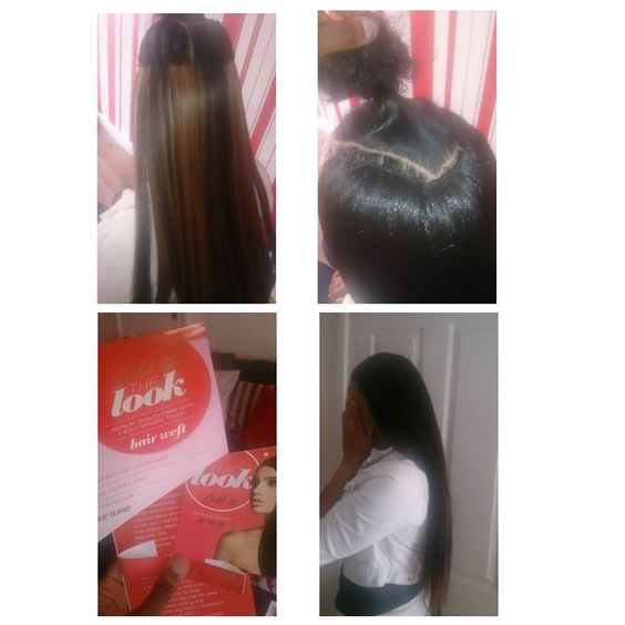 styled my client up with a full head weave with own hair leave out for a natural look :)