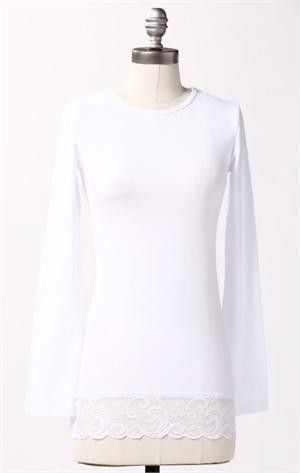 Deborah and Co. - Long Sleeve Lace Tee, $21.00 (http://www.deborahandco.com/long-sleeve-lace-tee/)