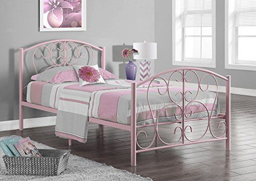 Twin Size Bed Pink Metal Frame Only Twin Size Bed Frame Bed