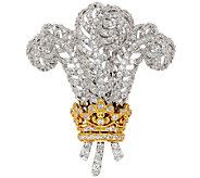 The Elizabeth Taylor Simulated Diamond Windsor Feather Pin - J319854