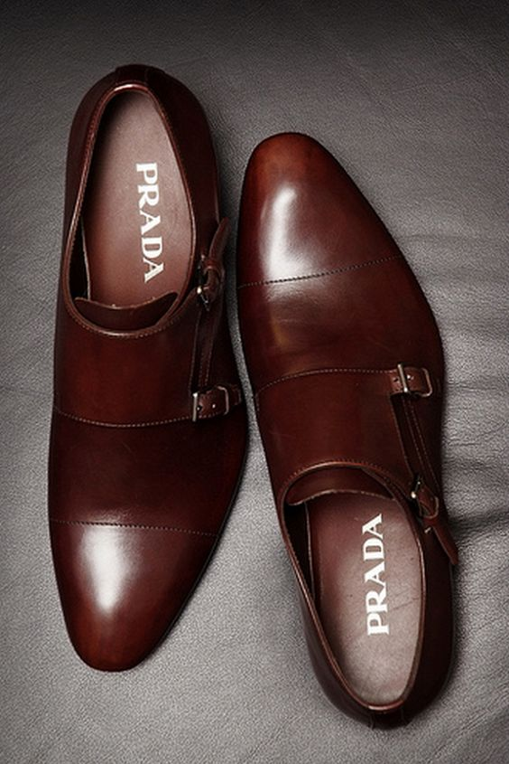 Prada Monk strap Not Into Men Shoes But I Can See These On A Very