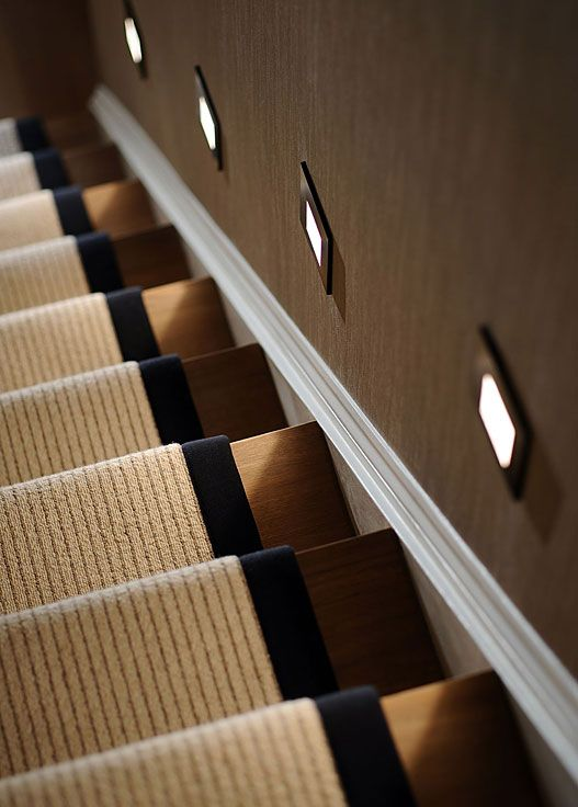 56 Best Images About Stair Lighting On Pinterest: Runners, Chalets And Basement Stairs On Pinterest