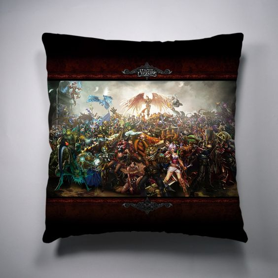 All Stars Style4 League Of Legends Decorative Throw Pillow League of Legends Decorative Pillow ...