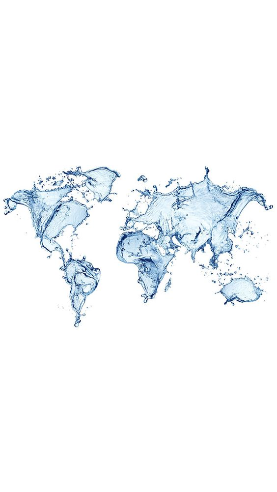 Water world map wallpaper for #Iphone and #Android at Wallzapp.com: