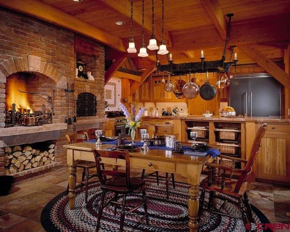 35000 S Highway 550 Montrose Co 81403 Country Kitchen Cabin Homes Timber Frame Homes