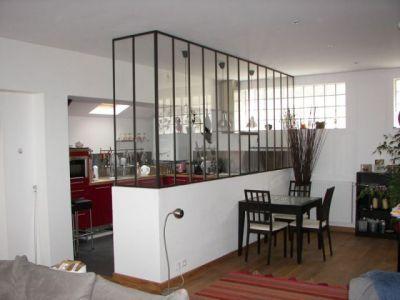 Mon entr e et ma cuisine lunettes mur de s paration et for Separation entre cuisine et salon