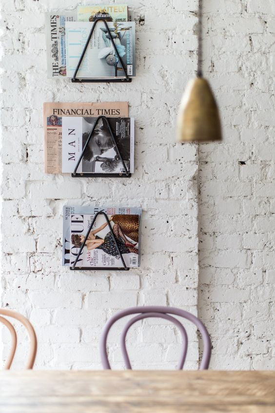 Revistas Decoracion Kiosco ~ de revistas revistas paredes de ladrillo paredes de ladrillo blanco