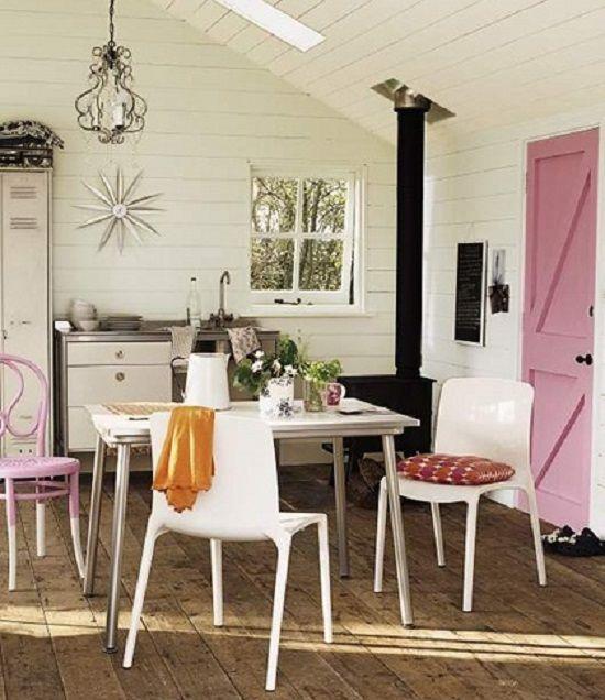 decoracao portas coloridas rustica
