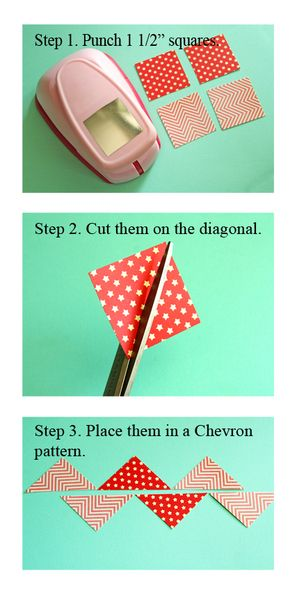 ooooh fun!! // Making Chevron from cut squares