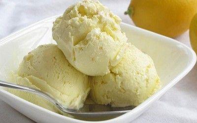 Gelado de Limão com Natas