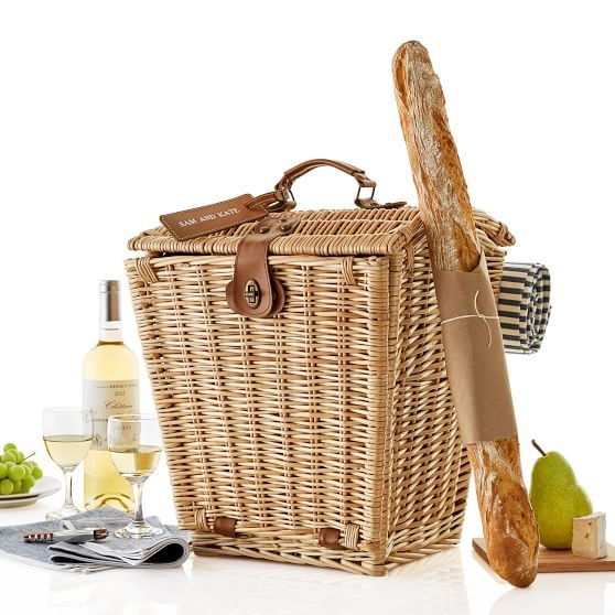classic wicker picnic basket