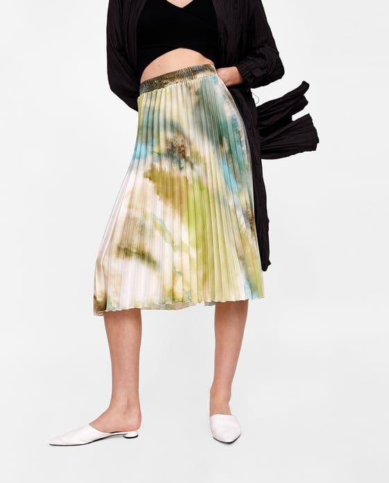 Billede 2 Af Plisseret Nederdel Med Print Fra Zara Plisseret Nederdel Nederdel Zara