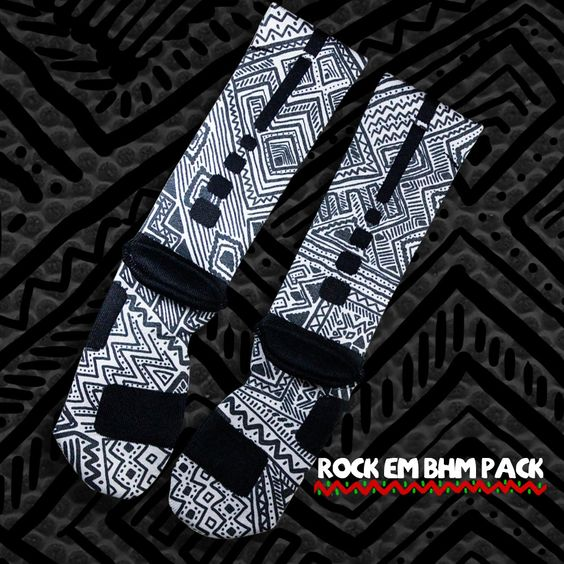 julietard's save of Black History Month Nike Elite Socks - Grey | Rock 'Em Apparel on Wanelo