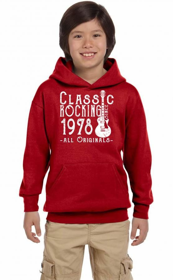 rocking since 1978 copy Youth Hoodie