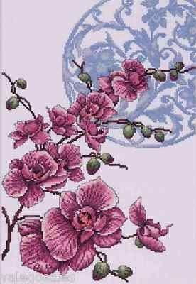 Design Works Counted #crossstitch  Orchids #DIY #crafts #decor #needlework #crossstitching