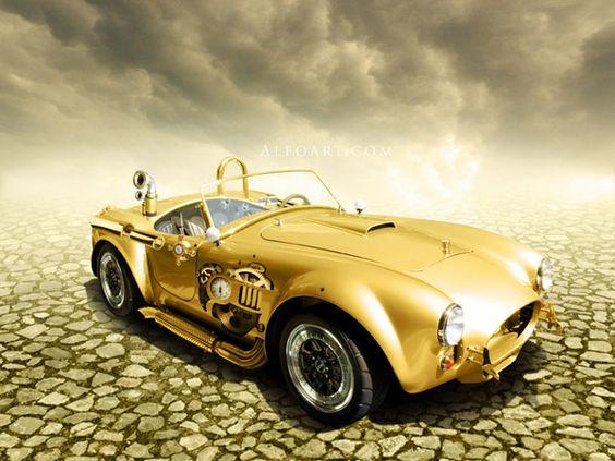 golden steampunk wheels...nice