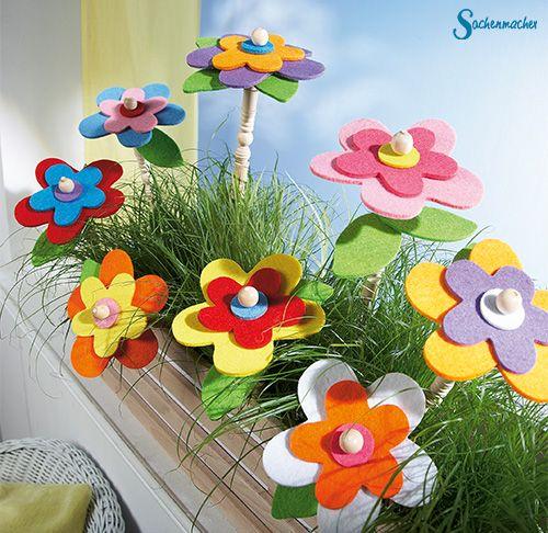 Blumenstecker zum auff deln einfach und schnell zum - Nussschalen deko ...