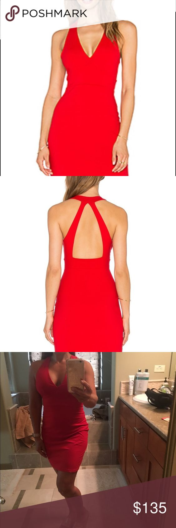 NWOT Susana Monaco Gia Dress Perfect Red Small !!! I bought this dress at Revolve.com for $165-New without tags-This dress was bought for my vacay but it was never worn. The only time was for this pic! My loss is your gain!!! From a smoke free, cat free home! Susana Monaco Dresses Mini