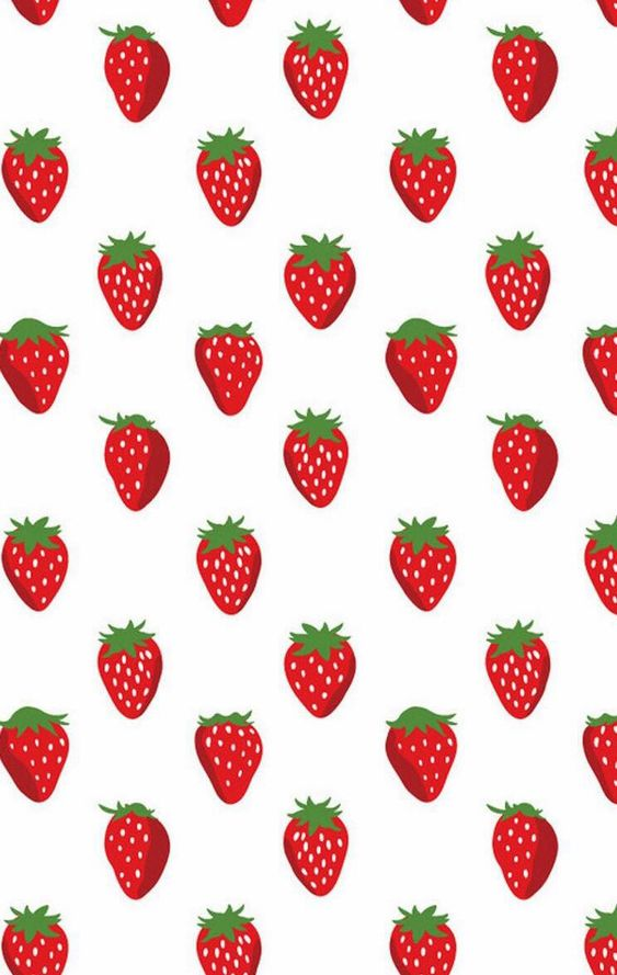 gallery for cute strawberries wallpaper