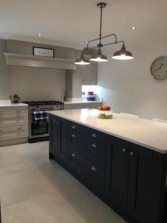 Farrow And Ball Cornforth White Railings Kitchen