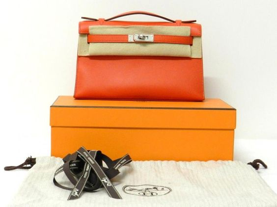 best replica birkin bags - Hermes Kelly Mini Pochette Clutch Capucine Swift Phw | Bags ...