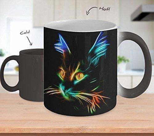 Color Changing Cat Mug Coffee Cup Neon Cat Mug Mugs Coffee