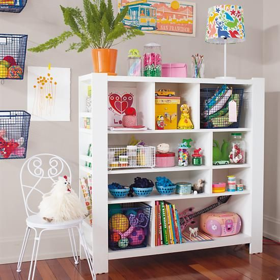 Kidsu0027 Bookcase: Kids White Compartment Cubby Bookcase in Bookcases u0026  Caddies | The Land