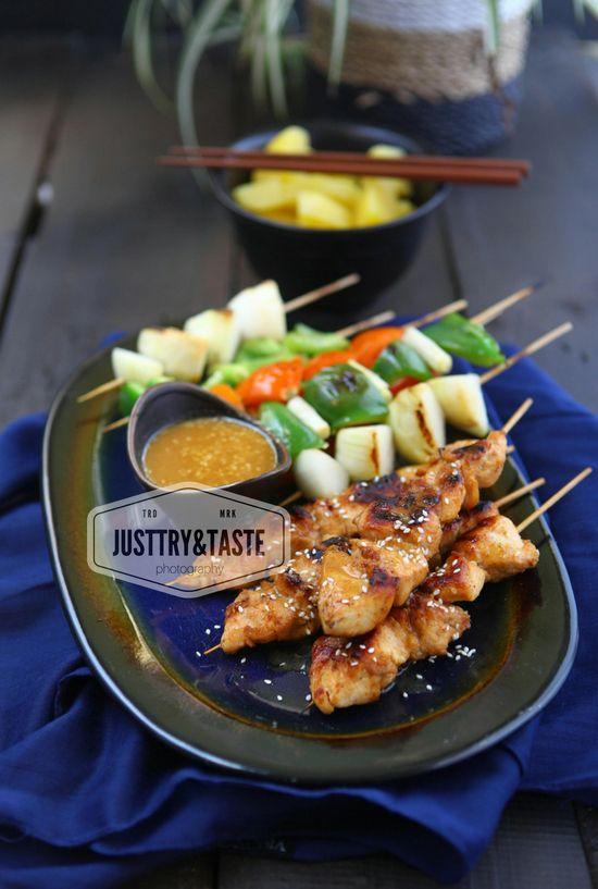Chicken Teriyaki Shish Kebab Makan Malam Ayam Teriyaki Masakan