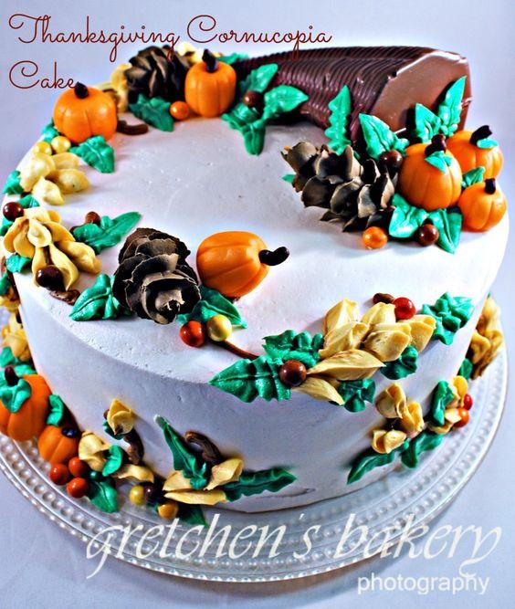 ... cake! Royal icing Pine Cones, Fondant Pumpkins and Chocolate