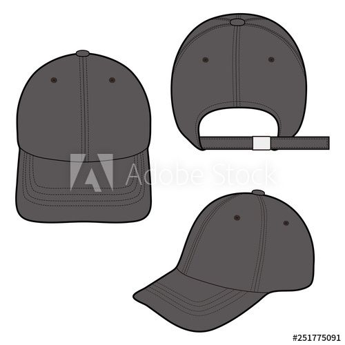 Baseball Cap Fashion Flat Vector Illustration Mockup Design Buy This Stock Vector And Explore Similar Vecto Baseball Caps Fashion Fashion Flats Mockup Design