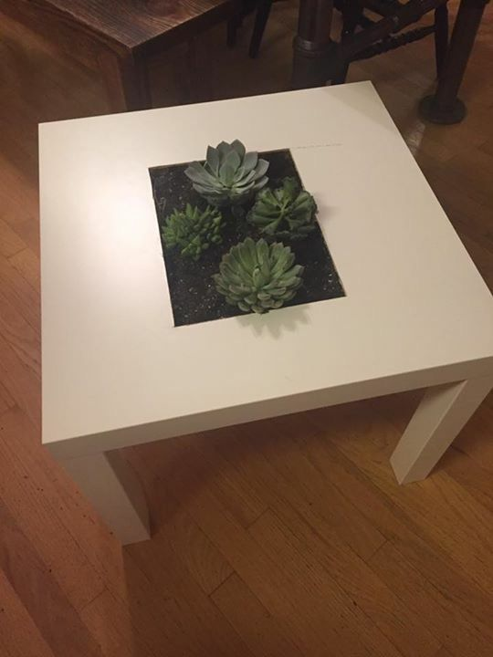 Ikea Side Table Hack Planter Succulent | Home Ideas. | Pinterest | Ikea  Side Table
