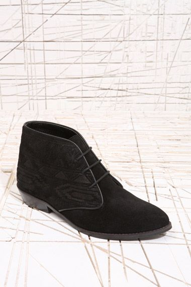 URBAN OUTFITTERS | ankle boots with aztec emboss