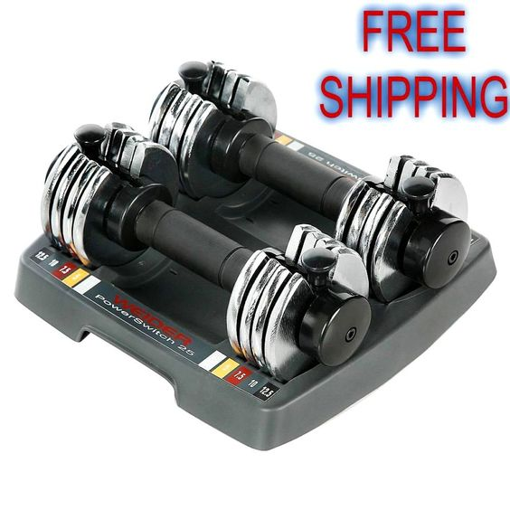 Adjustable Dumbbell Set 12.5 lb Fitness Space Saver Hand Weights Pair Of 2 NEW…