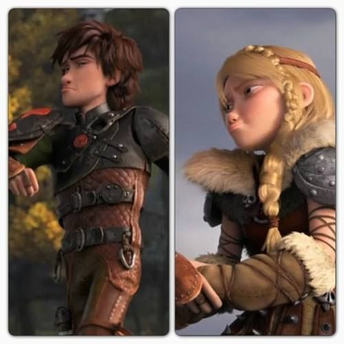 Hiccup and astrid, Hiccup and Duckface on Pinterest