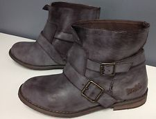 BLOWFISH NWOB Distressed Look Brown Leather Buckle Accent Ankle Boot Sz 6.5 2721