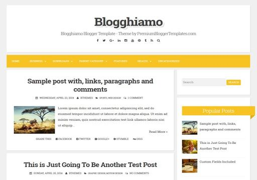 Download Gratis Theme Blogghiamo Blogger Template Di 2020 Blog Posting