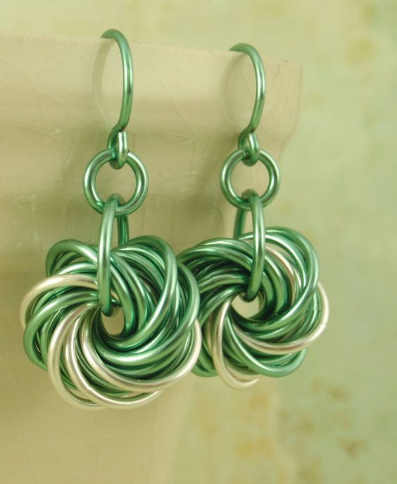 Eternity+Silver+Earrings++With+Spring+Green+or+YOU+by+unkamengifts,+$25.00