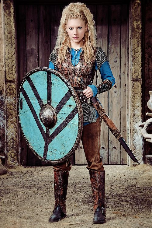 Lagertha by actress  Katheryn Winnick on Vikings   Lagertha was, according to legend, a Viking shieldmaiden from what is now Norway, and the onetime wife of the famous Viking Ragnar Lothbrok.