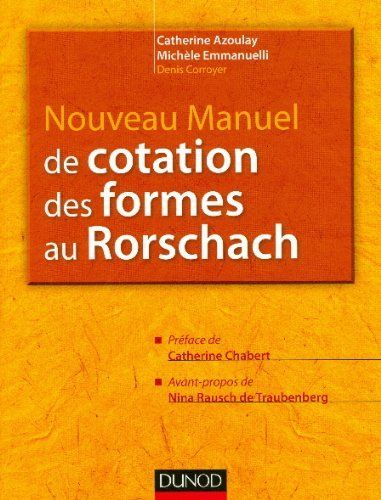 Nouveau manuel de cotation des formes au Rorschach de Catherine Azoulay