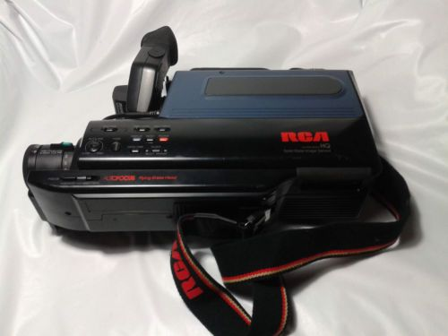 Vintage Rca Hq Vhs Video Camcorder Cc286 For Parts Only With Images Camcorder Vhs Rca