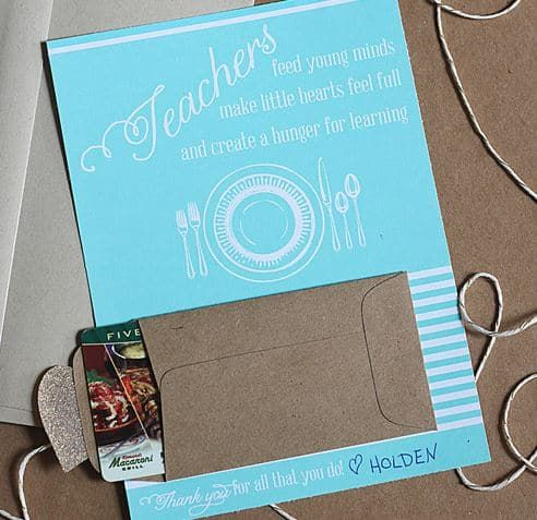 Teacher Gift Card Ideas Gift Card Holder Printables With Images