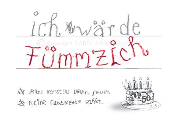 FüNfzigster Geburtstag, Einladung Geburtstag Lustig, 50. Geburtstag Ideen,  Geburtstag Johannes, 40 Geburtstag Spruch, Einladung Runder Geburtstag, ...