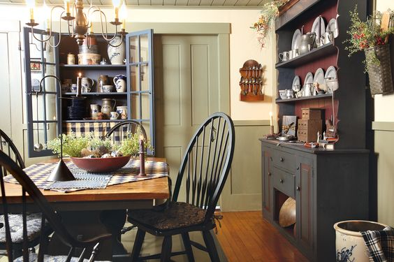 Getting Comfortable: An Indiana homeowner constructs, builds onto and ultimately overhauls her home to honor her newfound love of primitives with salvaged fixtures, pattern-rich textiles and plenty of weathered furniture. (Photographed by Bill Mathews, styled by Gloria Gale)